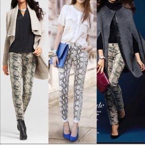 NWOT Cabi Snakeskin skinny Jeans